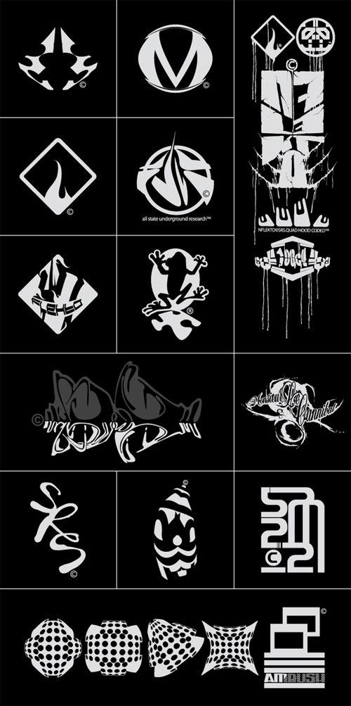 логотипы с иллюстрацией