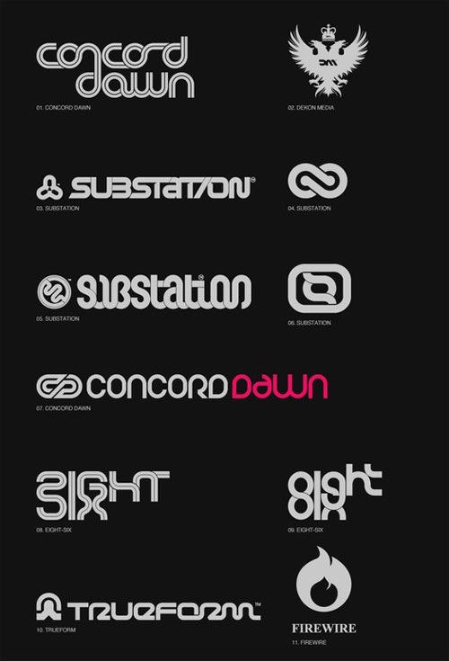 типографические шрифты в лого