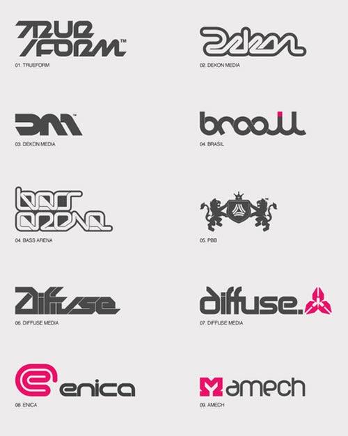 логотипы из типографических шрифтов