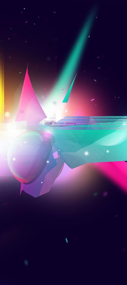 яркие абстрактные элементы в векторе