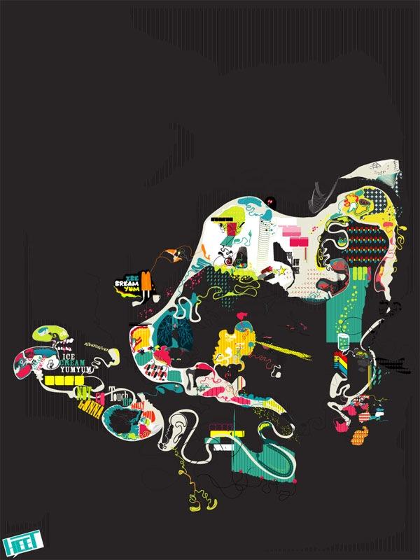 абстрактный постер