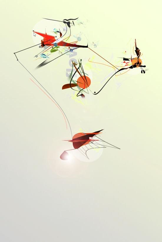 абстрактные фигуры в дизайне