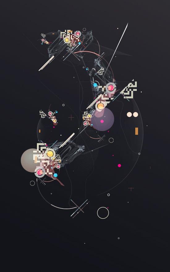 абстрактный футуристический дизайн в векторе