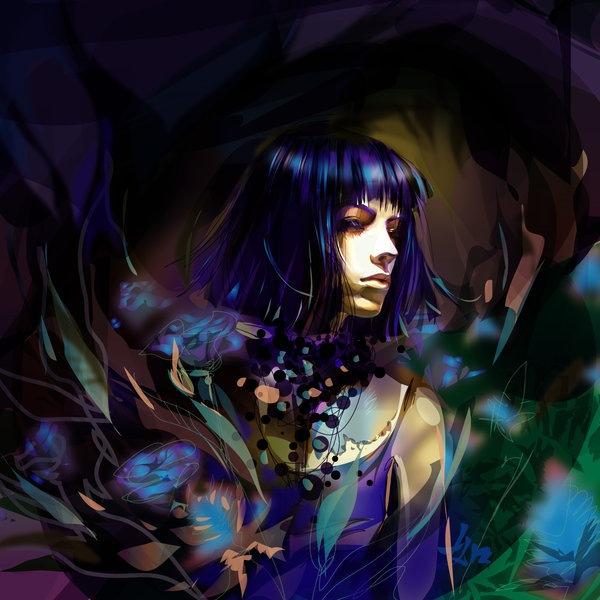 девушка в неоновых цветах