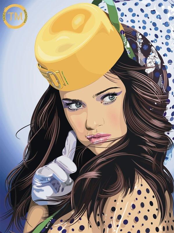 стильная девушка в иллюстрации