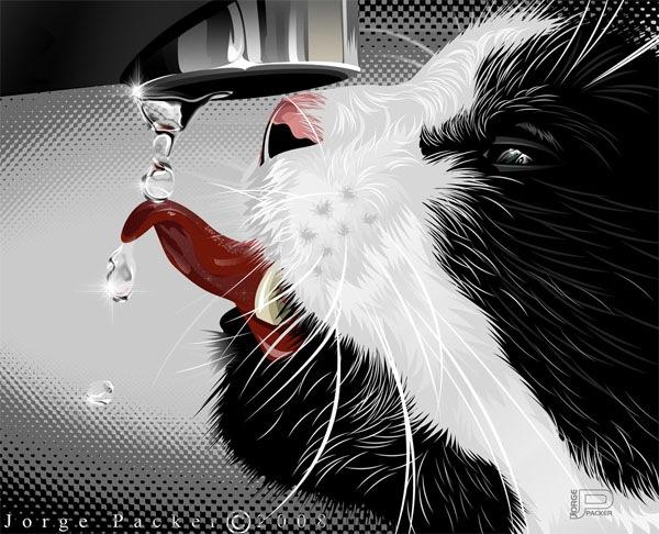иллюстрация кота