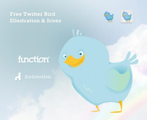Иконки и иллюстрации птички Twitter