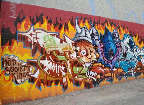 типографика и яркие граффити элементы