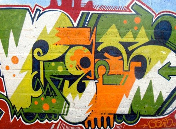 граффити типографика