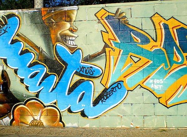 стильный граффити рисунок