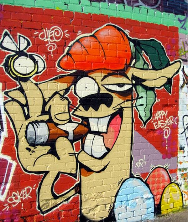 мультипликационный граффити персонаж