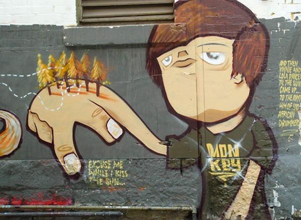 необычные граффити дизайны