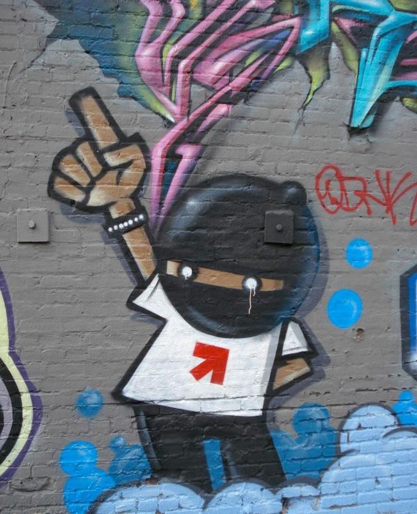 стильное граффити на стене