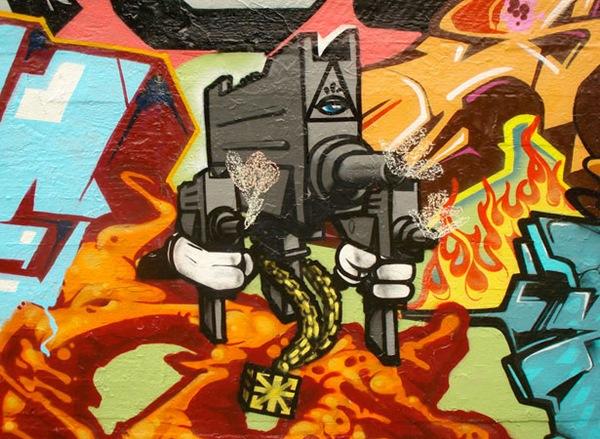 граффити в ретро стиле