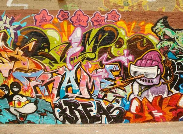 яркий стильный граффити дизайн