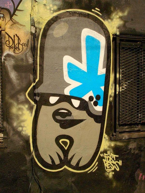 граффити в стиле гранж
