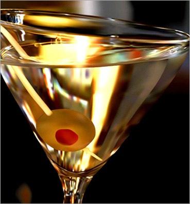 искрящийся мартини