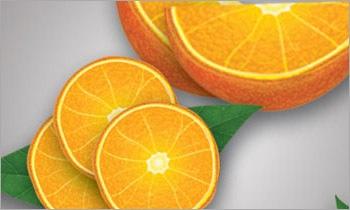 реалистичный апельсин
