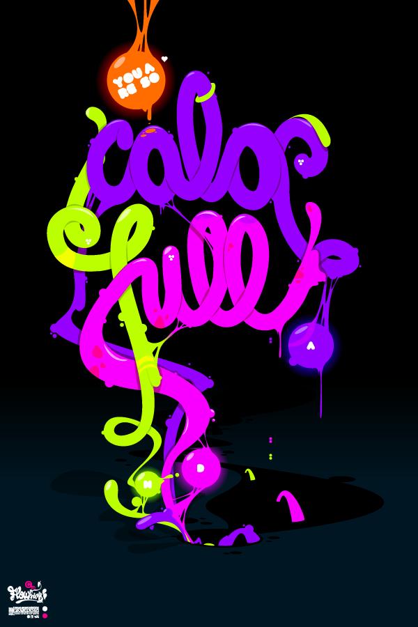 яркие креативные шрифты