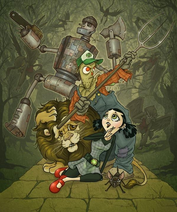 мультипликационная иллюстрация героев сказки