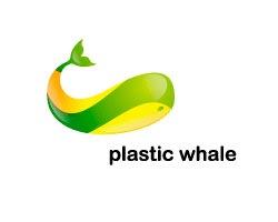 яркий стильный кит в лого
