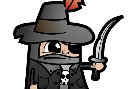 Создайте векторного пирата при помощи набросков от руки