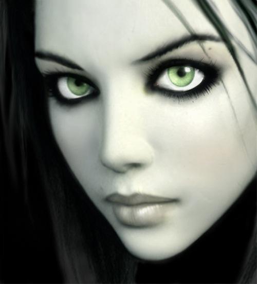 Черно-белая девушка