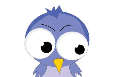 Векторная иллюстрация: Создайте миленькую птичку