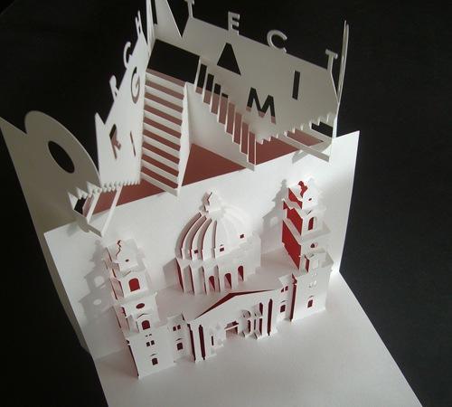 собор вырезанный из бумаги