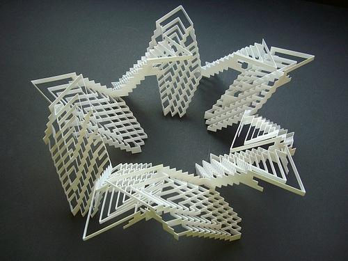 абстрактные бумажные формы