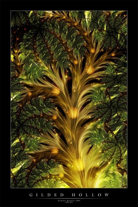 яркий зеленый фрактальный рисунок