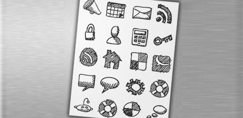 Иконки зарисовки