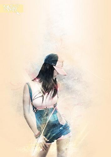 стильный постер с элементами блеска
