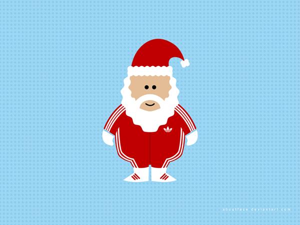 Санта в Adidas