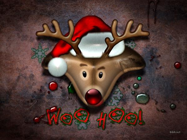 Иллюстрация новогоднего оленя