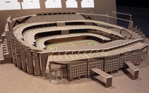 объемный бумажный стадион