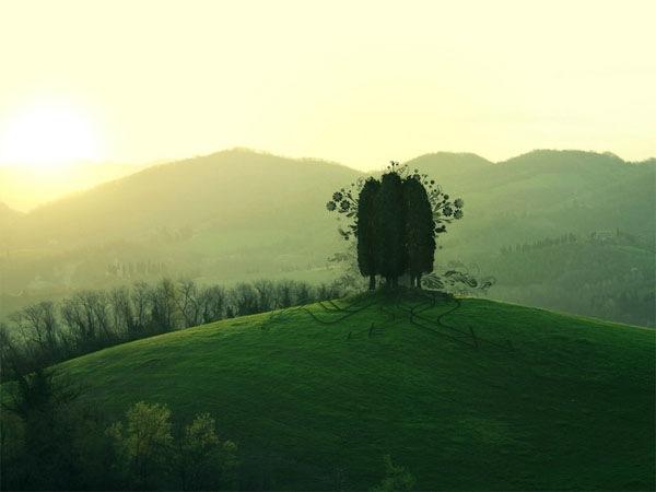 абстрактный пейзаж