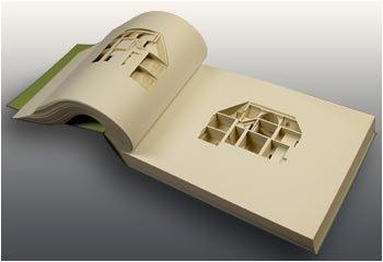 дом вырезанный в альбоме