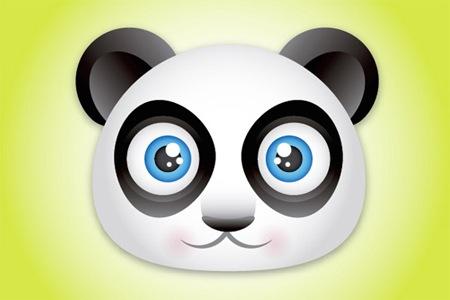 Создайте симпатичную иконку в виде мордочки панды