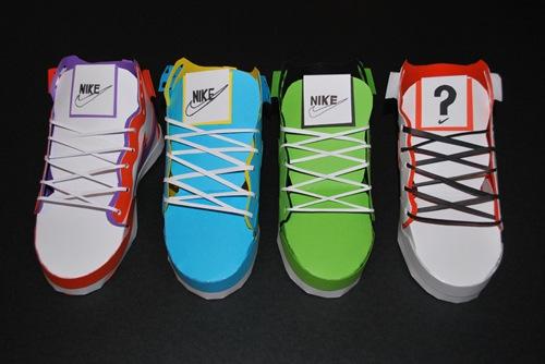 обувь из бумаги