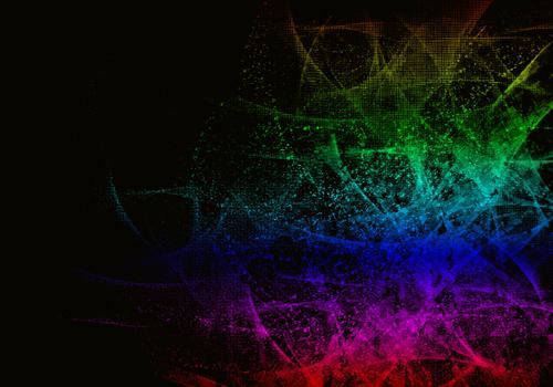 радужные абстрактные брызги