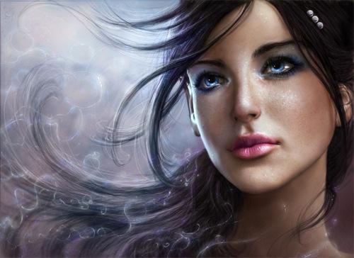 иллюстрация девушки в 3D