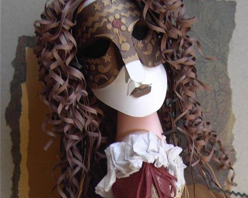 карновальная кукла из бумаги