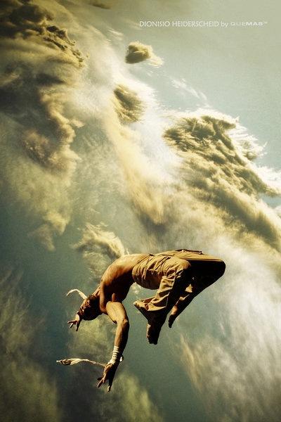 парящий в облаках