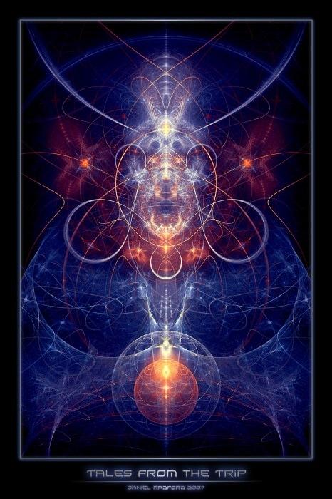симетрический фрактальный дизайн