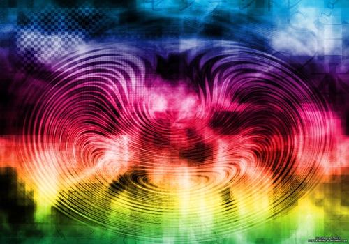 электрические радужные волны