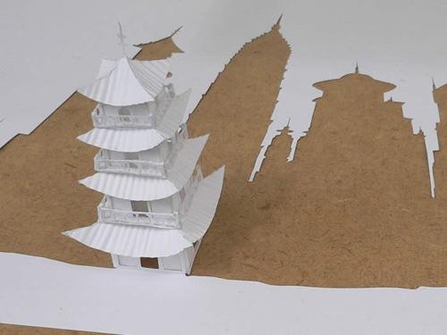 тени и бумажные сдания