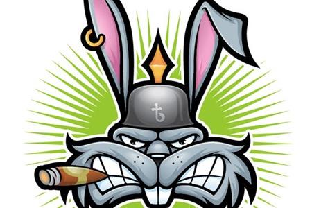Симметричная иллюстрация кролика