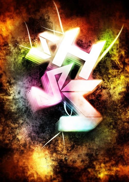 Создайте геометрическую типографику на гранжевом фоне
