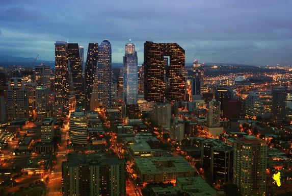 Создайте городской ландшафт в виде букв из зданий